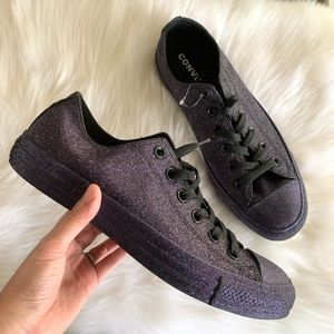 NEW Converse Chuck Taylor Purple Glitter shoes